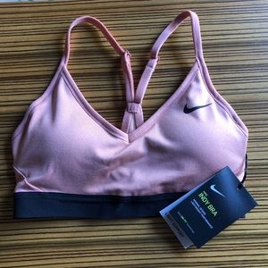 Brand new Nike Indy Bra, peachy pink color